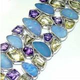 Kelsey Sterling Silver Amethyst  Bracelet