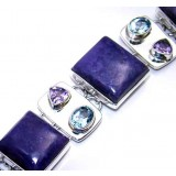 Kamryn Sterling Silver Lapis  Bracelet