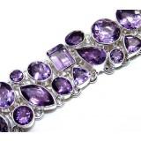 Amethyst Silver Bracelet