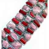 Briana Sterling Silver Coral  Bracelet