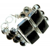 Madilyn Sterling Silver Onyx  Bracelet