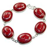 Ana Sterling Silver Coral  Bracelet