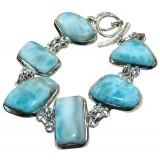 Zoey Sterling Silver Larimar  Bracelet
