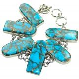 Kaylen Sterling Silver Turquoise  Bracelet