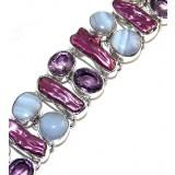 Kiara Sterling Silver Gemstone  Bracelet