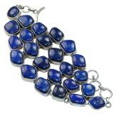 Athena Sterling Silver Lapis  Bracelet
