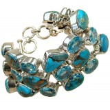 Carlie Sterling Silver Turquoise  Bracelet