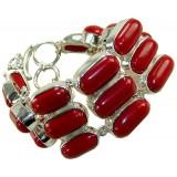 Mckenna Sterling Silver Coral  Bracelet