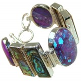 Angel Sterling Silver Turquoise  Bracelet