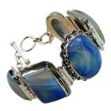 Kyndal Sterling Silver Onyx  Bracelet
