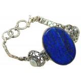 Miley Sterling Silver Lapis  Bracelet