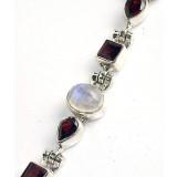 Bryleigh Sterling Silver Moonstone  Bracelet