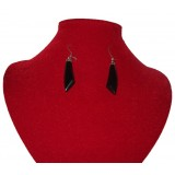 Tikal Black Jade Earrings