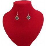 Waca Green Traditional Jade Earrings