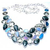 Jacqueline Sterling Silver Gemstone  Necklace
