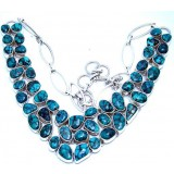 Rylee Sterling Silver Turquoise  Necklace