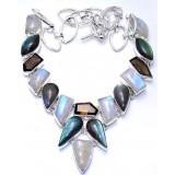 Julianna Sterling Silver Labradorite  Necklace