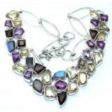 Danielle Sterling Silver Gemstone  Necklace