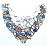 Yazmin Sterling Silver Quartz  Necklace
