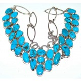 Kirsten Sterling Silver Turquoise  Necklace