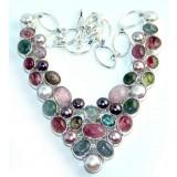 Avery Sterling Silver Labradorite  Necklace