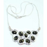 Nicole Sterling Silver Amber Necklace
