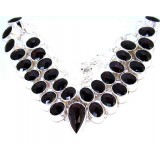 Alana Sterling Silver Onyx  Necklace