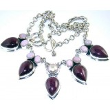 Quinn Sterling Silver Onyx  Necklace