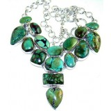 Lilly Sterling Silver Turquoise  Necklace