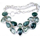 April Sterling Silver Gemstone  Necklace