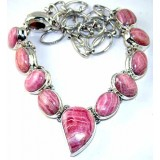 Mila Sterling Silver Rhodochrosite  Necklace