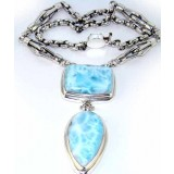 Larimar Silver Necklace