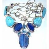 Alexandria Sterling Silver Gemstone  Necklace