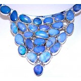 Natalia Sterling Silver Opal  Necklace