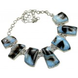 Sofia Sterling Silver Onyx  Necklace