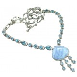 Addyson Sterling Silver Gemstone  Necklace