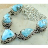 Lila Sterling Silver Larimar  Necklace