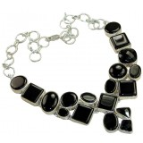 Saige Sterling Silver Onyx  Necklace