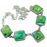 Chloe Sterling Silver Turquoise  Necklace