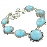 Aubri Sterling Silver Larimar  Necklace