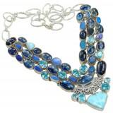 Mikayla Sterling Silver Gemstone  Necklace