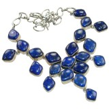 Miranda Sterling Silver Lapis  Necklace