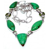Angelina Sterling Silver Jade  Necklace