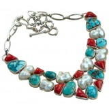 Jessica Sterling Silver Coral  Necklace