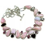 Laurel Sterling Silver Rhodochrosite  Necklace