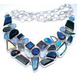 Blakely Sterling Silver Labradorite Necklace