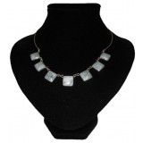 Chica Light Blue Jade Necklace