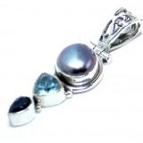 Topaz Silver Pendant