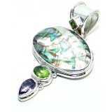 Kyra Sterling Silver Gemstone  Pendant