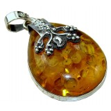 Adyson Sterling Silver Amber